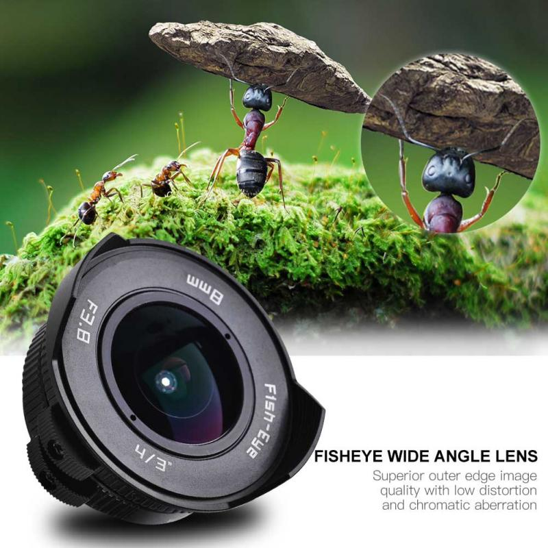 8mm F/3.8 Manual Focu Fisheye Wide Angle Lens for DSLR Cameras