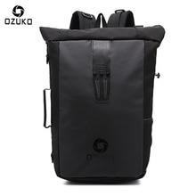 Ozuko New Multi-functional Casual Men Backpacks Travel Mochila Shoulder Bag Creative Male Waterproof Laptop Backpack School Bags