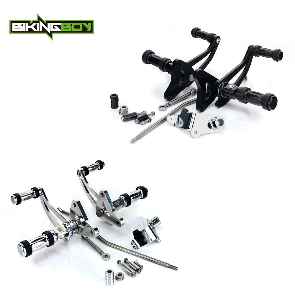 BIKINGBOY Aluminium Adjustable CNC Foot Rest Forward Controls Footpegs For Honda VT750 VT 750 Shadow Spirit 00 01 02 03 04 05 06