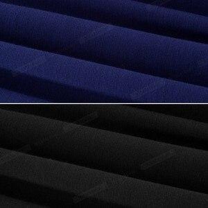 Image 5 - נחמד לנצח בציר ניגודיות צבע טלאי תורו למטה צווארון ללבוש לעבודה vestidos משרד עסקי נשים Bodycon שמלה b420