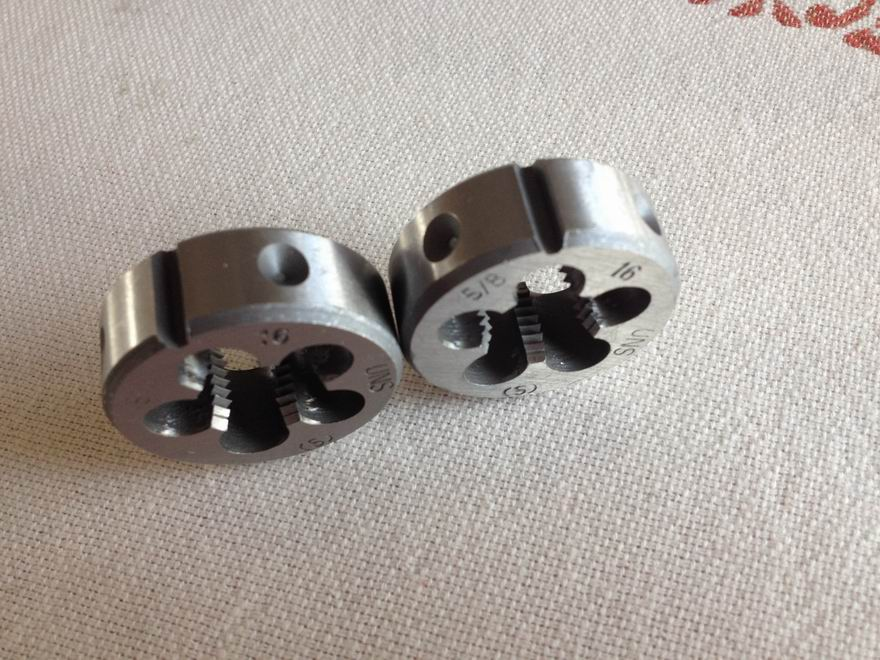 """Free shipping of 2PCS Alloy steel made American standard UN 5/8""""-20 Die Threading Tools Lathe Model Engineer Thread Maker"""