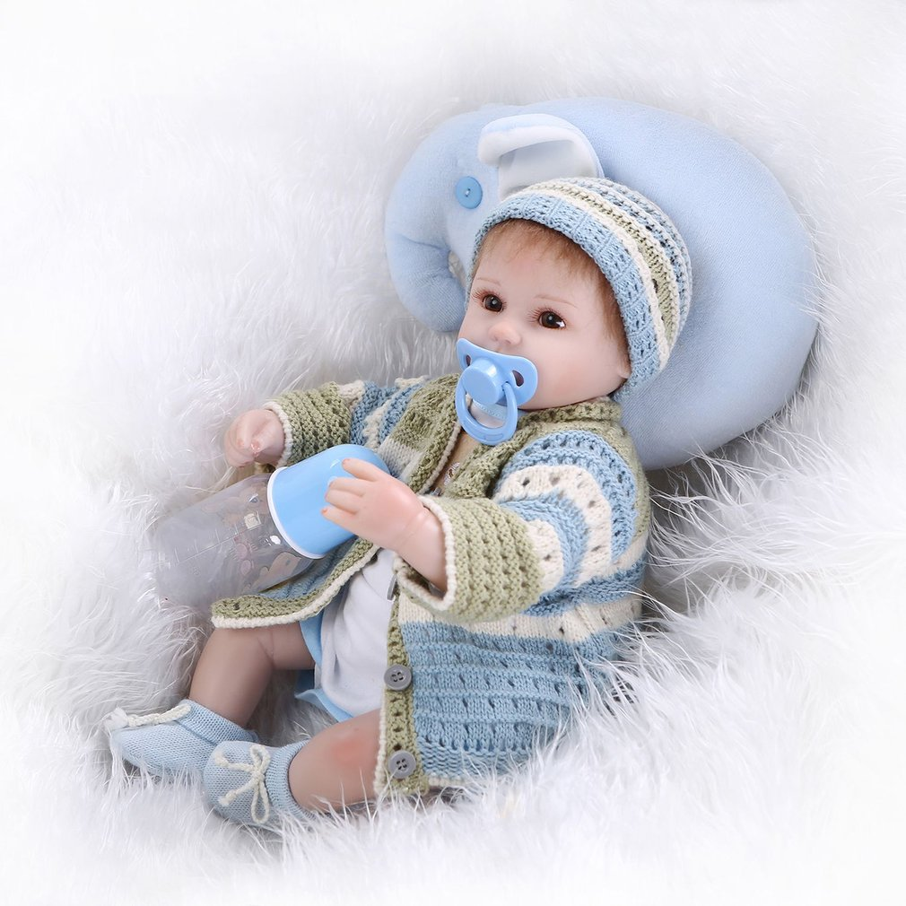 42cm Clever Reborn Baby Dolls With Lovely Clothes Children Gift Cloth Body Silicone Arms Legs Doll Imitation Baby Lifelike Dolls42cm Clever Reborn Baby Dolls With Lovely Clothes Children Gift Cloth Body Silicone Arms Legs Doll Imitation Baby Lifelike Dolls
