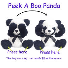 New Plush electric Toy Music Panda, Stuffed Animals & Plush Panda Toy Animal Baby Toy For Christmas Gifts stuffed plush toy electric funny music dancing bunny