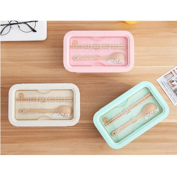 850ml Wheat Straw Lunch Box Healthy Material Bento Boxes Microwave Dinnerware Food Storage Container Lunchbox 3