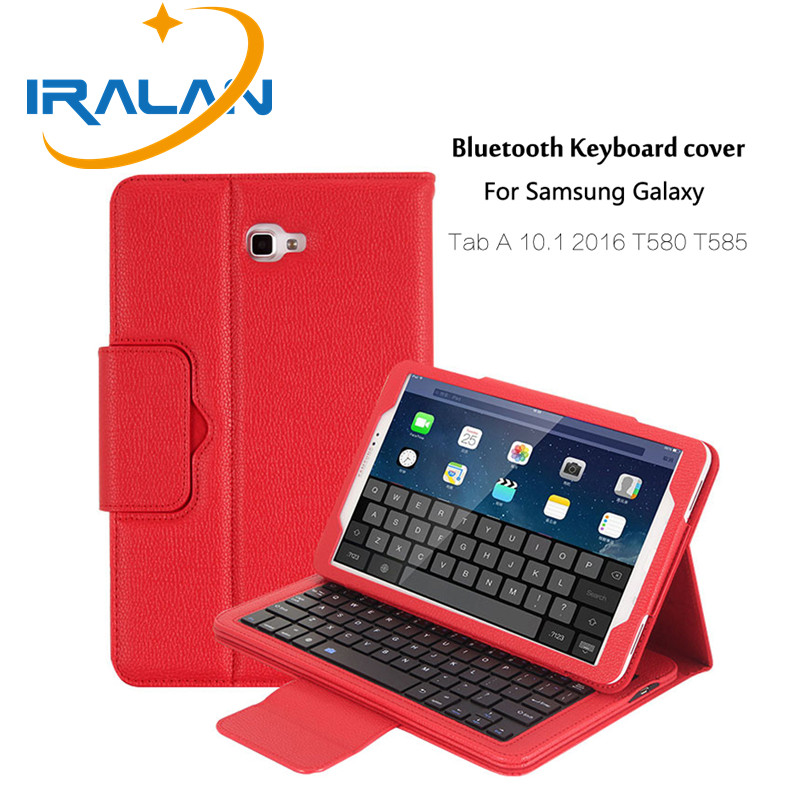 2018 hot luxury Universal Bluetooth Keyboard Case For Samsung Galaxy Tab A 10.T580 T585 T580N 10.1tablet pc case + film+stylus universal 61 key bluetooth keyboard w pu leather case for 7 8 tablet pc black