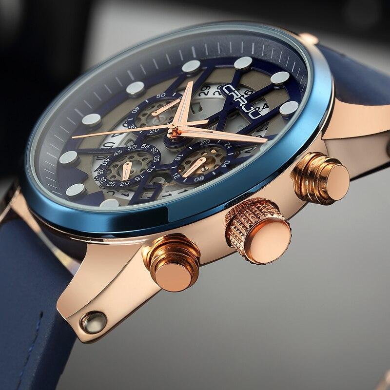 Reloj Hombre 2017 CRRJU Fashion Chronograph Sport Mens Watches Top Brand Luxury Military Quartz Watch Clock Relogio Masculino