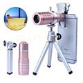 Nuevo 6in1 kit de lentes de la cámara del teléfono para samsung s3 s4 s5 s6 s7 borde nota 2 3 4 5 lente de zoom óptico de 12x telephototelescope 7 clips