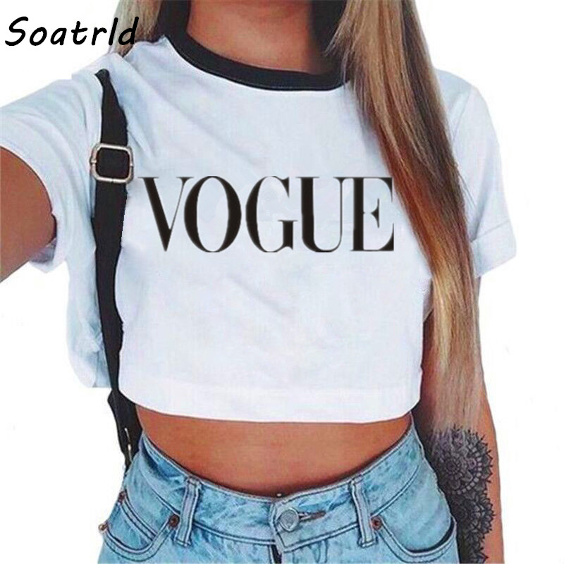 2018 Summer Streetwear White Crop Top Women Cropped T Shirt Tank Tops Tees Transparent Print Clothes Short Sleeve