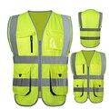 De alta visibilidad de seguridad chaleco reflectante chaleco de seguridad chaleco reflectante ropa de trabajo de múltiples bolsillos envío libre