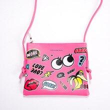 PU Leather Cute Cartoon Printing Shoulder Bag