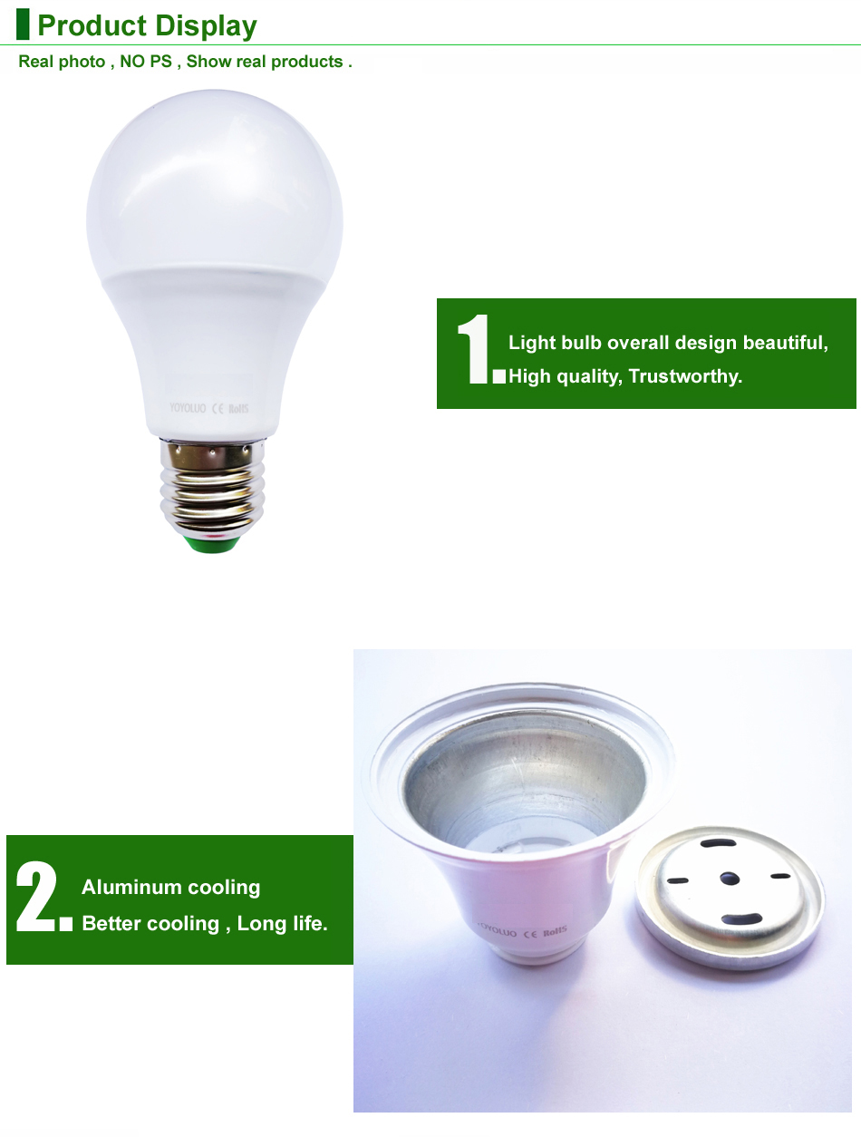 Image 5 - YOYOLUO E27 LED Bulb Lights 3W 6W DC 12V Led Lamp 9W 12W 15W Energy Saving Lampada 12 Volts Led Light Bulbs for Outdoor Lighting-in LED Bulbs & Tubes from Lights & Lighting