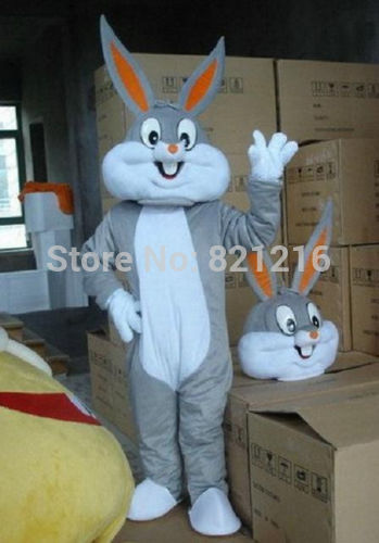 Bug bunny Mascot Costume Cartoon clothes performance wear bugs bunny Cartoon Costume for Halloween party event