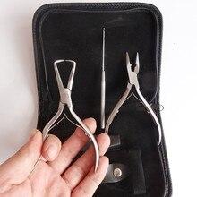 Оптовая sainless стали плоскогубцы кет набор! высококачественный набор наращивание Волос инструмент, наращивание волос плоскогубцы установить