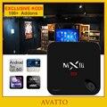 [Avatto] 2g/16/32g kodi totalmente carregado android 6.0 amlogic mxiii-g personalizado s912 ocat núcleo smart tv box hdmi, wi-fi, 4 k, h.265, mxiii