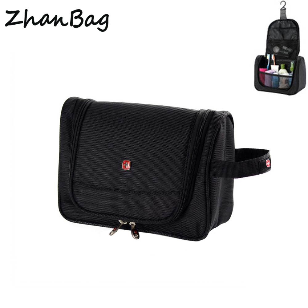 ZhanBag Fashion Portable Oxford Cloth Waterproof Travel Cosmetic Bag,Pendant Organizer Cosmetics Bag,Men Women Makeup Bath Bags