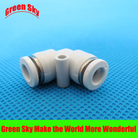6 pcs/lot 6mm to 6mm OD tube L shaped elbow pneumatic push in fitting