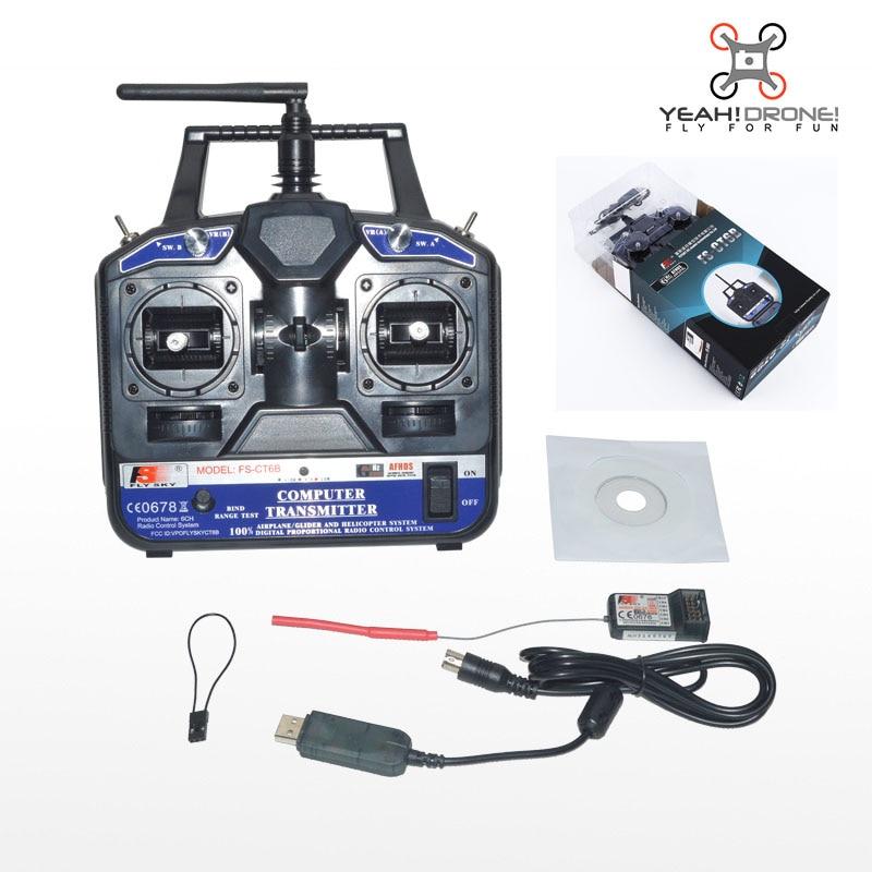 ФОТО FlySky CT6B FS-CT6B Transmitter / Remote Control 2.4G 6CH Radio Model RC Transmitter+ Flysky R6B Receiver FPV Heli/Airplane/Glid