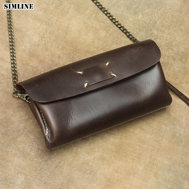Brand Vintage Genuine Leather Cowhide Women Female Small Tote Chain Handbag Handbags Shoulder Crossbody Clutch Bag Bags Ladies картридж panasonic kx fat88a черный [kx fat88a7]