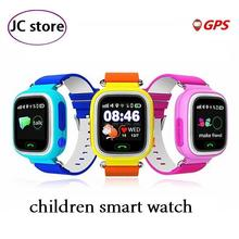 Los niños elementos esenciales de seguridad perdida anti gps tracker smart watch q90 con wifi niños sos de emergencia para iphone & android smartwatch