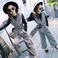 Girls Clothing Set For Girls 2019 Spring Hot Sale School Clothing Suit Teenage Kids Children Clothes 3Pcs Vest + T Shirt + Pants