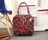 Fashion gril red canvas school bags double buckle eco friendly massifswomen messenger bags women's canvas handbag