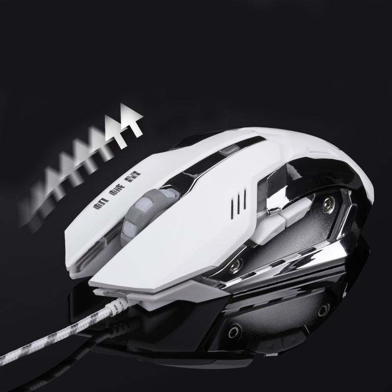 Wired Gaming Mouse Mause Justerbar DPI LED Optisk USB Mus Mus Kabel for Pro Gamer League Of Legend / Dota2 Gratis Levering