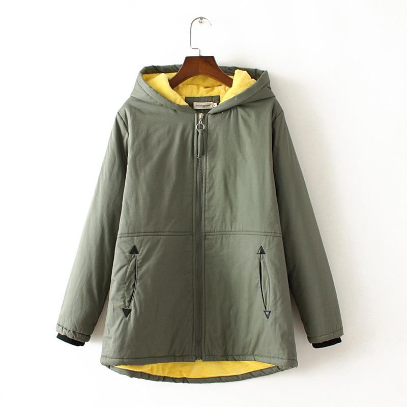Plus size 4XL Autumn Zipper Mandarin Collar women   parkas   2018 casual long sleeve ladies Coat pocket