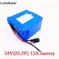 HK LiitoKala 24 v 12ah 6S6P lithium-akku 25 2 v 12ah batterie li-ion für fahrrad batterie pack 350 watt e bike 250 watt (keine ladegerät)