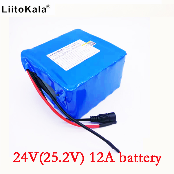 HK LiitoKala 24v 12ah 6S6P lithium battery pack 25.2V 12ah battery li-ion for bicycle battery pack 350w e bike 250w(no charger) 24v 10 ah 6s5p 18650 battery lithium battery 24 v electric bicycle moped electric li ion battery pack