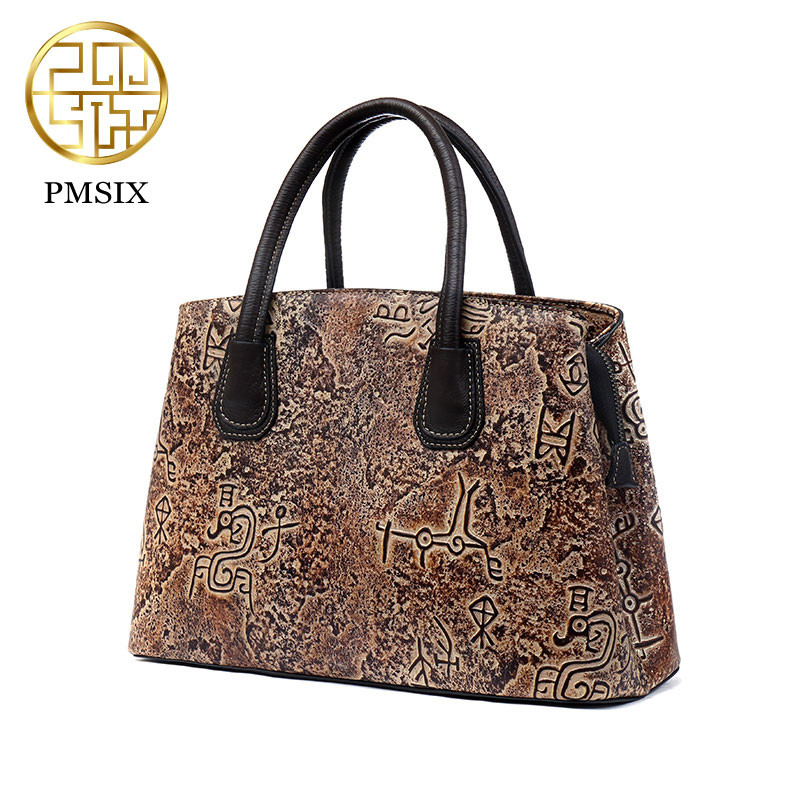 цены на Pmsix 100% Top Layer Real Genuine Cow Leather Small Women Shoulder Bags Vintage Handbag Shoulder bag Messenger Ladies Bag P11005 в интернет-магазинах