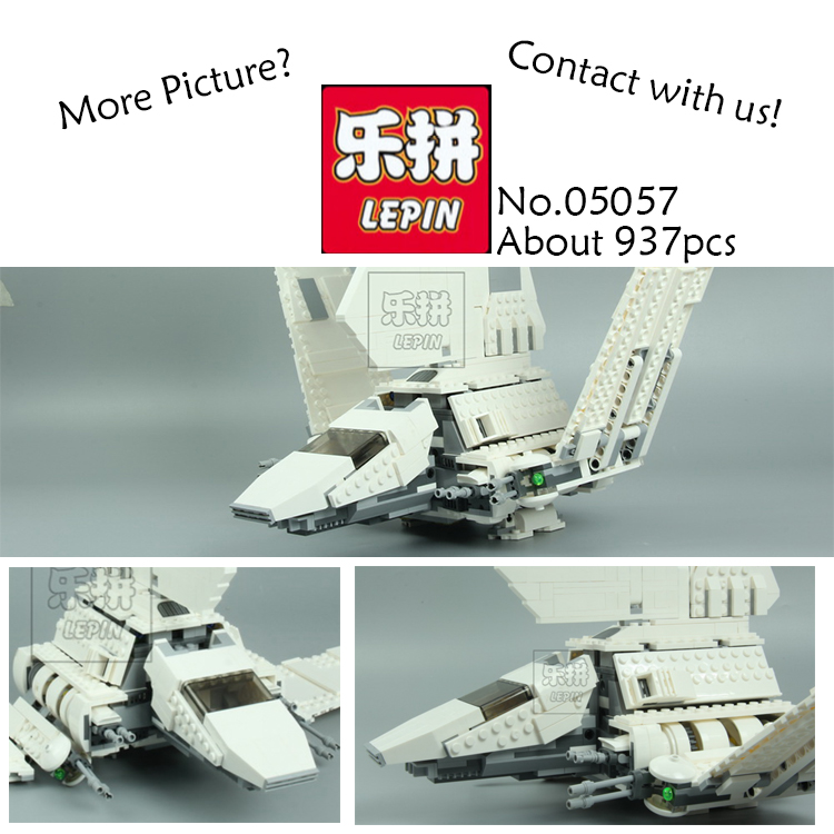 New Lepin 05057 937Pcs Star War Series The Imperial Shuttle Set Model Building Kit Blocks Bricks Toys Compatible Gift With 75094 lepin 05040 y attack starfighter wing building block assembled brick star series war toys compatible with 10134 educational gift