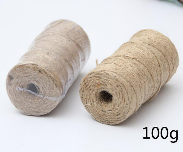 2mm DIY Manual Accessories Photo Wall Dedicated Weave Natural Cylindrical Hemp Rope Party Wedding Gift Wrapping Cords Thread in Ribbons from Home Garden