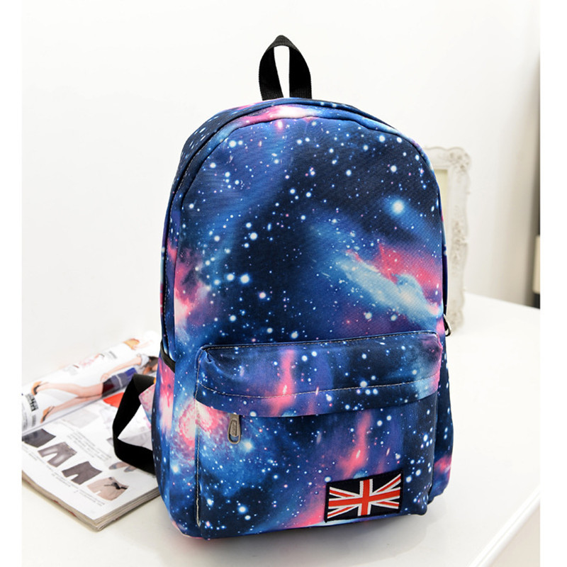 Fashion Women School Backpack Galaxy Stylish Canvas Satchel Shoulder Bags Backpacks for Teenager Girls Korean Schoolbag Mochilas рюкзак manbags korean fashion canvas shoulder teenager backpack travel bag