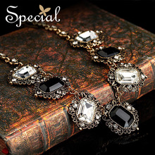 Special New Fashion Statement Necklace Black & White Necklaces amp& Pendants Vintage Gold-plated Necklace for Women XL141161