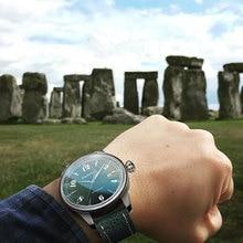 купить Fashion Men's Mechanical Watches relojes Leather Royal Style Watch 42mm Parnis Date Luxury Brand Sapphire Automatic men's Watch по цене 7729.77 рублей