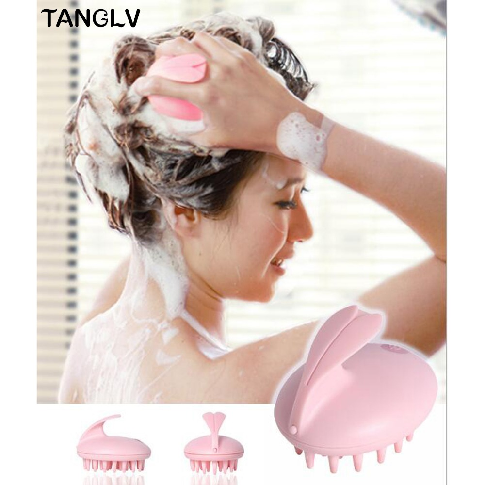 New Style Electric Cute Rabbit Head Massager Magic Shampoo Massage Comb Bath Massage Brush Scalp Massager Head Hair Care bohemia ivele crystal подвесная люстра bohemia ivele crystal 1702 14 300 c nb