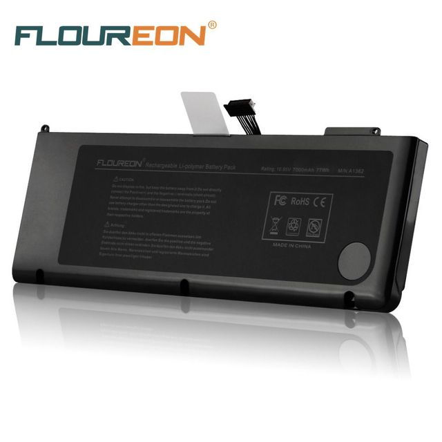 low cost 50eda 5bf06 US $70.9 |Laptop Battery FLOUREON 10.95V 7000mAh 77Wh LiPo Rechargeable  Battery Pack for Apple for MacBook Pro 15
