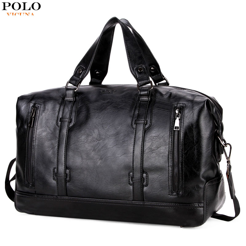 все цены на VICUNA POLO Leather Men's Business Travel Bags Suitcase Duffel Bags Large Capacity Weekend Travel Men Handbag Brand Casual Bag онлайн