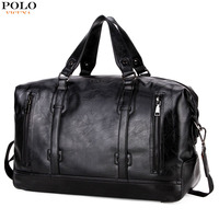 VICUNA POLO Leather Men's Business Travel Bags Suitcase Duffel Bags Large Capacity Weekend Travel Men Handbag Brand Casual Bag