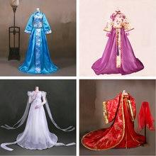 Древний костюм ручной работы, платье для девочки, Китайская Одежда для куклы 1/3 Bjd, аксессуары для кукол, игрушки для девочек