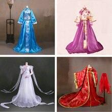 Costume de poupée chinois fait à la main, vêtements de poupée chinois pour 1/3 Bjd, accessoires pour jouets de poupée pour filles