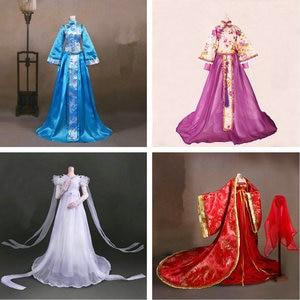 Image 1 - Handgemaakte Oude Kostuum Meisje Jurk Chinese Doll Kleding Voor 1/3 Bjd Poppen Accessoires Voor Doll Speelgoed Voor Meisjes