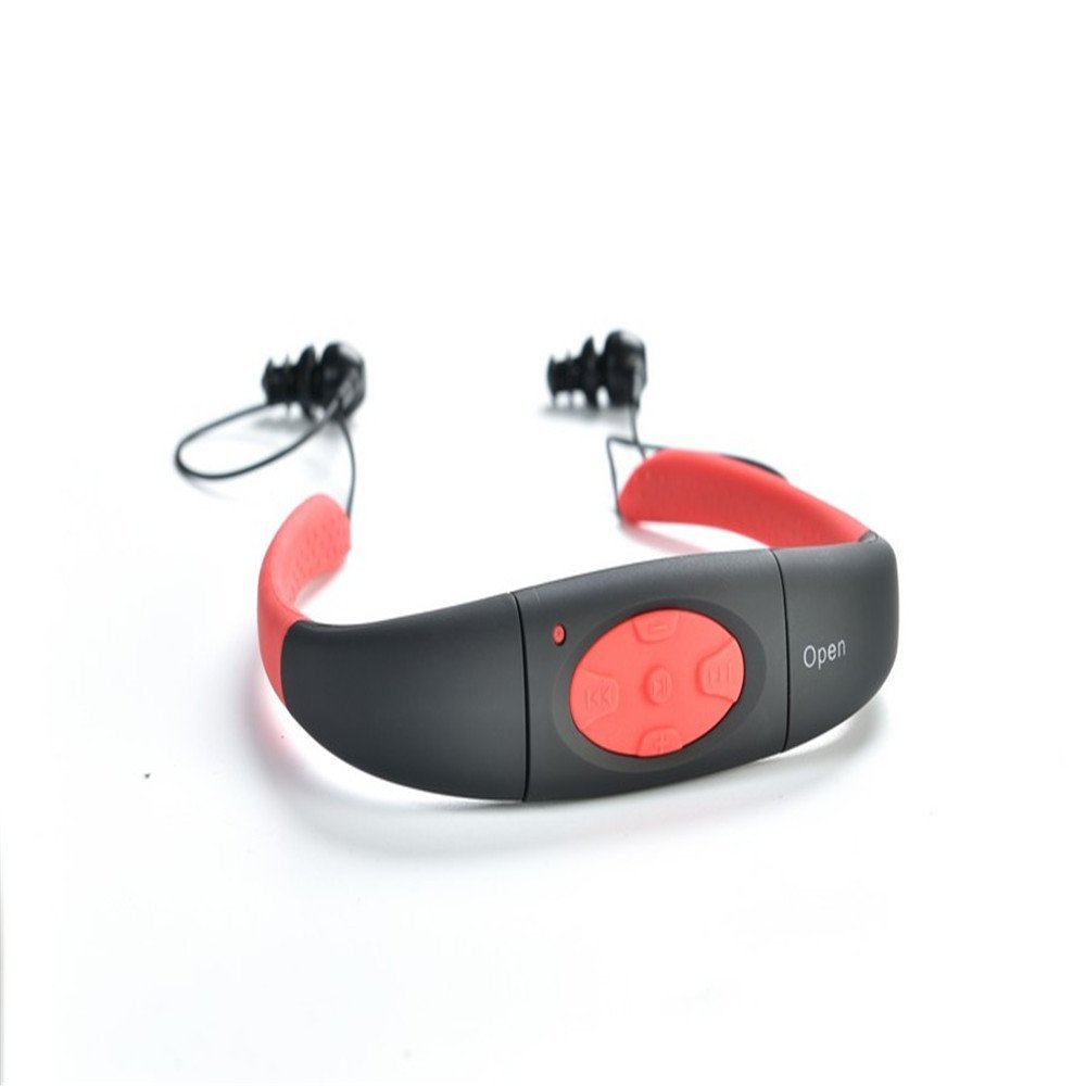 Newest Waterproof Sports MP3 IPX8 USB 8G MP3 Player Underwater Neckband Swimming Diving Earphone Stereo Audio Headphone in HiFi Players from Consumer Electronics