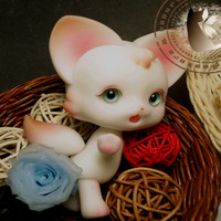 BJD doll small pet small when the baby raised ears. Son