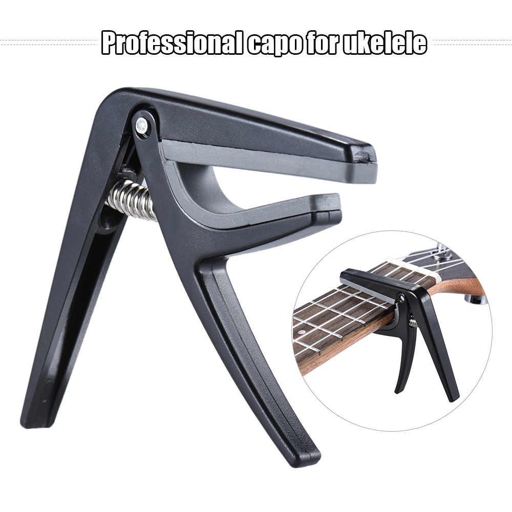 מקצועי אחד-יד שינוי מהיר Ukelele קאפו גיטרה פלסטיק שחור Ukulele מיוחד התאמת טון קאפו גיטרה אבזרים