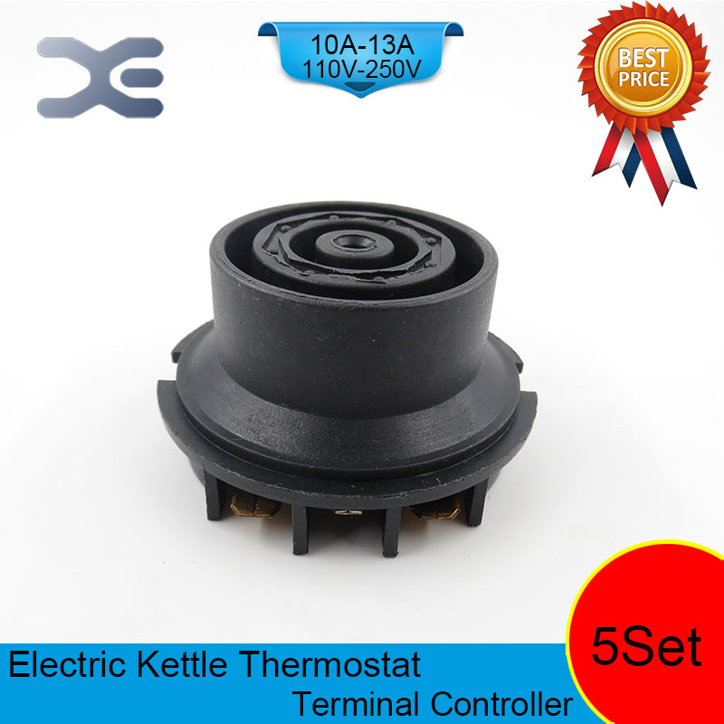 5set/lot T125 13A 110-250V NC Terminal Controller New Kettle Thermostat Unused Spare Parts for Electric Kettle EK1707 freeshipping wall mount tooth brush holder oil rubbed bronze bath dual cups