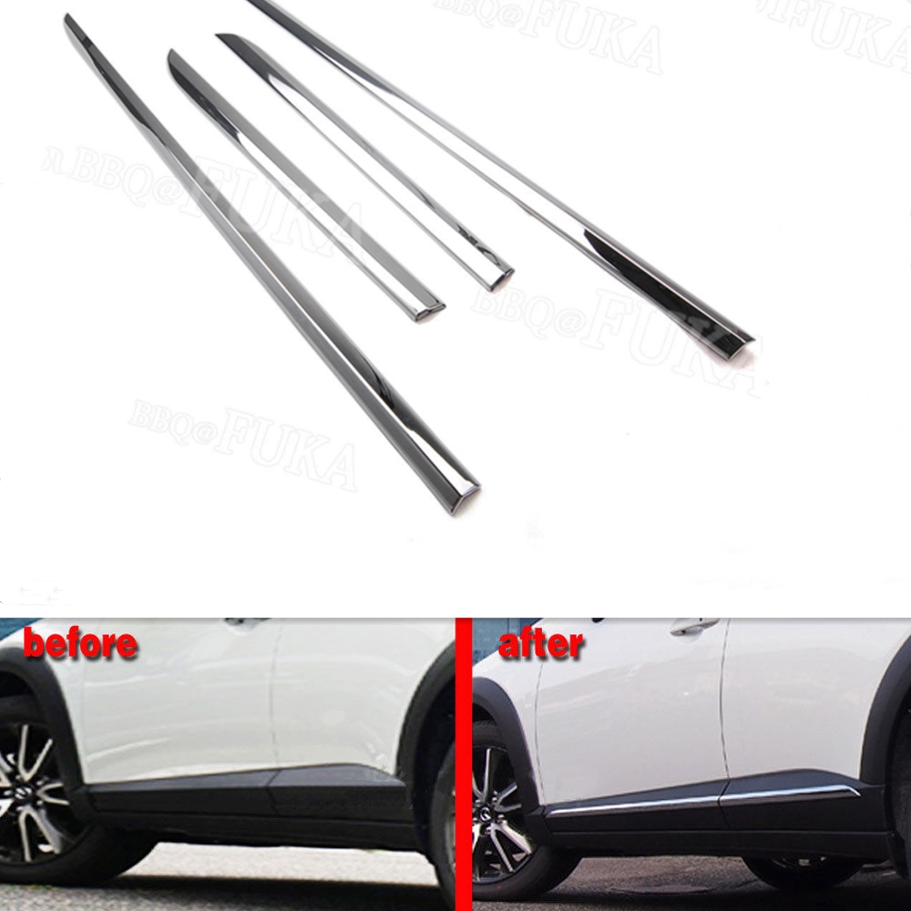 pcs/set ABS Chrome Car Out Door Side Line Body Molding Strip Cover Trim Decal For Mazda CX-3 2016-2018 Car Styling Accessoriespcs/set ABS Chrome Car Out Door Side Line Body Molding Strip Cover Trim Decal For Mazda CX-3 2016-2018 Car Styling Accessories