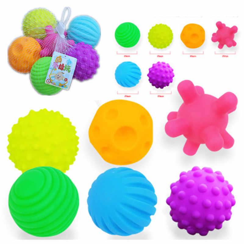 أطفال ألعاب الأطفال محكم متعدد كرة لينة لعبة الكرة مجموعة تطوير الطفل اللمس الحواس لعب تدريب تدليك كرة يد تعمل باللمس
