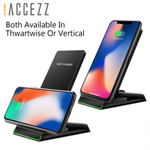 !ACCEZZ 7.5W Qi Fast Wireless Charger Phone Holder For iPhone X XS Max Samsung S9 S8 Note 9 Quick Charge Stand Dock