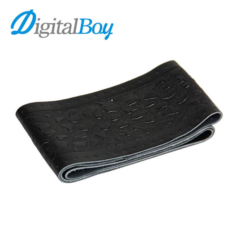 Digitalboy DIY Genuine Leather Car Steering Wheel Cover Cap with Needles and Thread Braid 38cm Printing Cobblestone High Quality